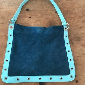 Handbags - Blue suede purse